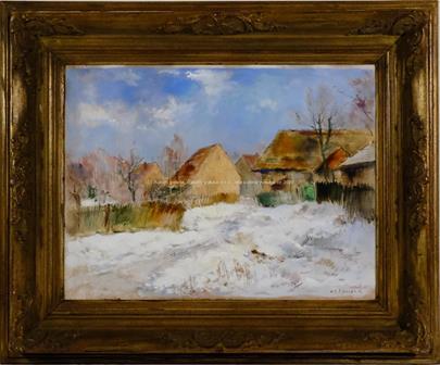 Karel Jan Sigmund - Vesnice pod sněhem