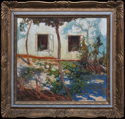 Alois Kalvoda - Před domem