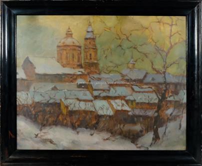 signováno nečitelně - Kostel sv. Mikuláše v zimě
