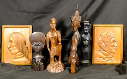 .. - Soubor 6 afrických předmětů
