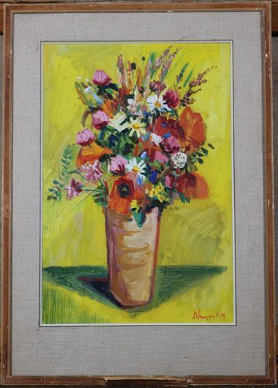 signatura nečitelná - Pestré květy