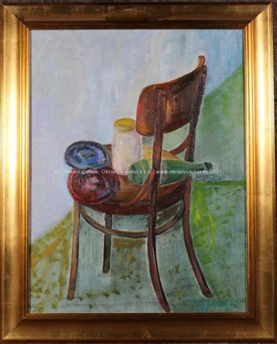 Stanislava Konrádová - Břežková  - Zátiší s židlí