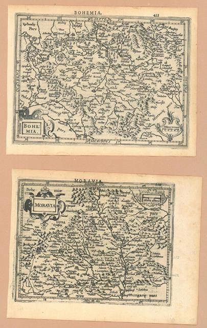 .. - Mapa Moravy a části Čech