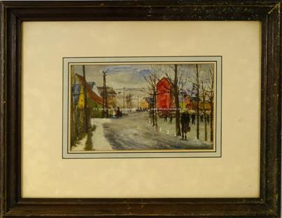 Ferdinand Kotvald - Zima s červeným domkem