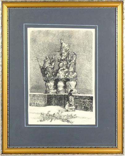Josef Liesler - Svatá Trojice na Karlově mostě