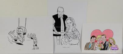 Štěpán Mareš - Konvolut 3 kreseb