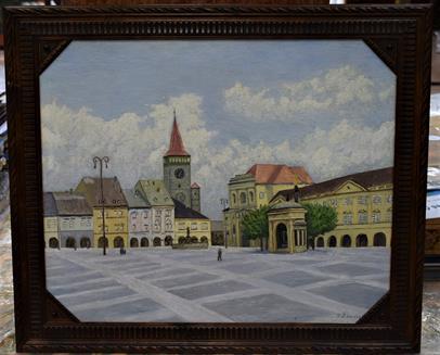 František Ždárský - Valdštejnské náměstí vJičíně