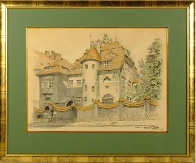 Karel Votlučka, Gustav Klimt - Vila PRIMAVESI, Olomouc + přiložen grafický list Eugenie Primavesi od Gustava Klimta