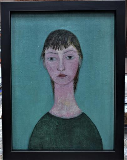 signováno nečitelně - Modiglianiho Madona