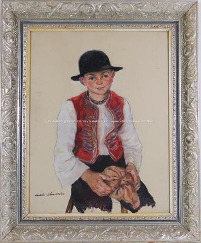 Ludvík Schneiderka - Portrét chlapce