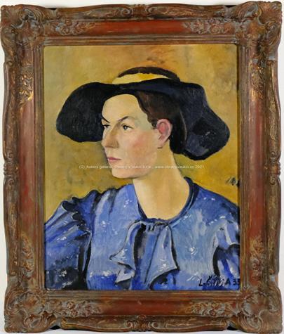 Ladislav Šíma - Žena v modrém
