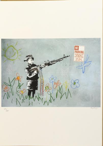 Banksy - Boy with Crayon Guy