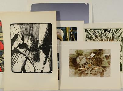 M. Hes, M. Entler, I. Dankovič a další - Konvolut 6 grafických listů