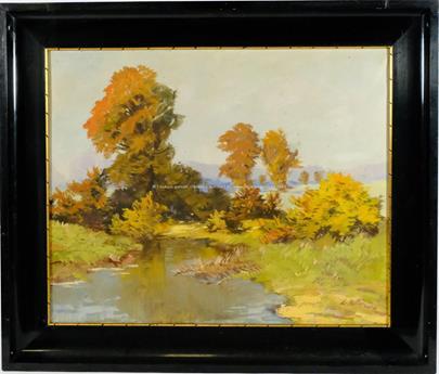 Leonard Rotter - Podzimní krajina s řekou