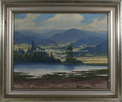 František Adamec - Horské panorama