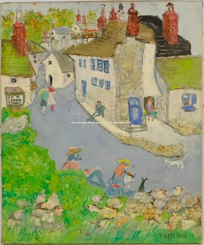 Alena Dostálová - Komíny, vesnice v Anglii