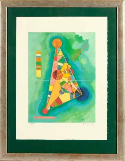 Vasilij Kandinsky - Colorful in the triangle