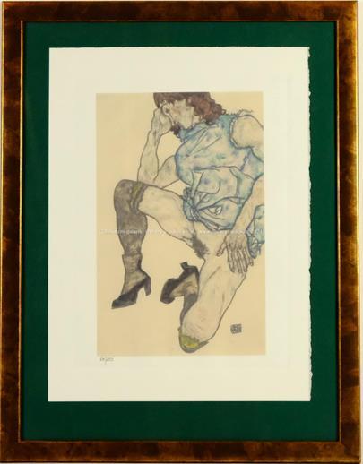 Egon Schiele - Kniendes Mädchen