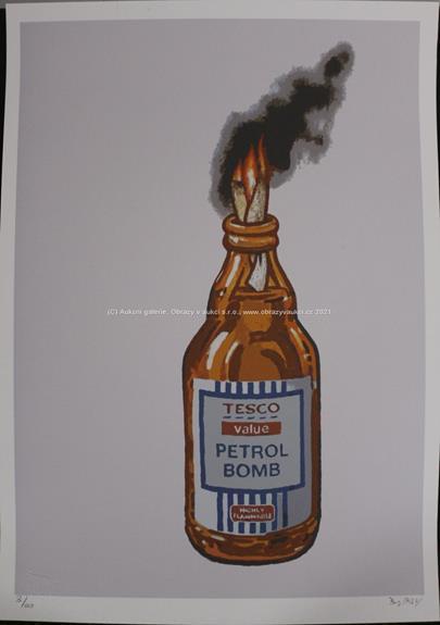 Banksy - Tesco Petrol Bomb