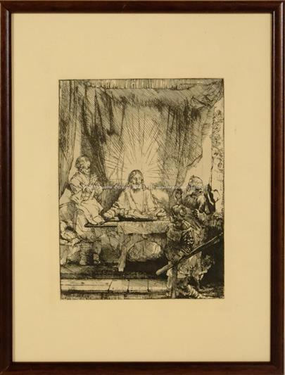 Rembrandt van Rijn - Kristus v Emauzích