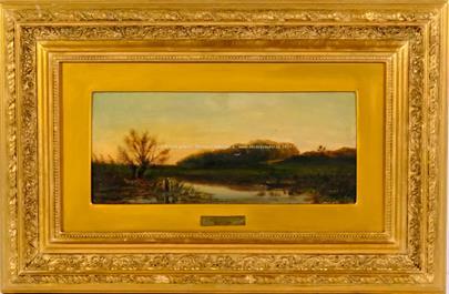 Antonín Chittussi - Západ slunce u rybníka