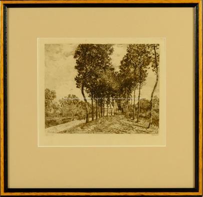 P. M. Roy podle Alfreda Sisleyho - Na břehu řeky Loing v Moretu