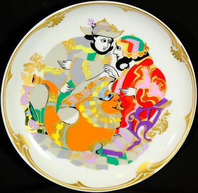Rosenthal - Závěsný talíř Golden Orient Motiv II.