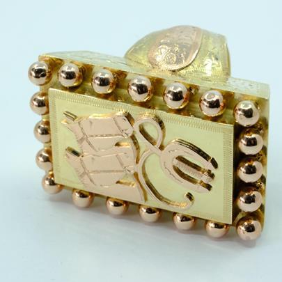 .. - Prsten , zlato 585/1000, hrubá hmotnost 39,60 g
