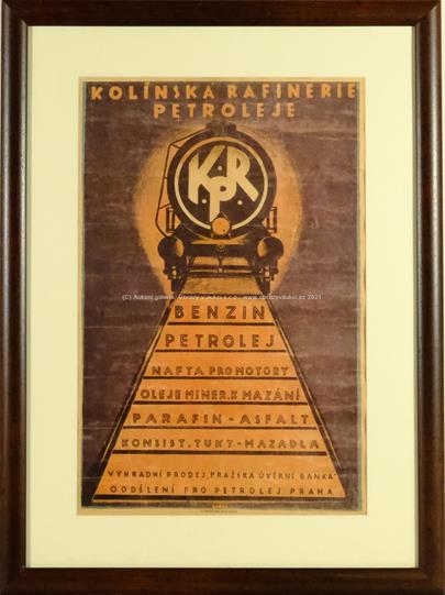 Zdeněk Rykr - Plakát Kolínská rafinerie petroleje