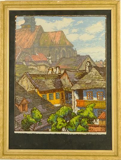 Jaroslav Votruba - Pohled na vesnici