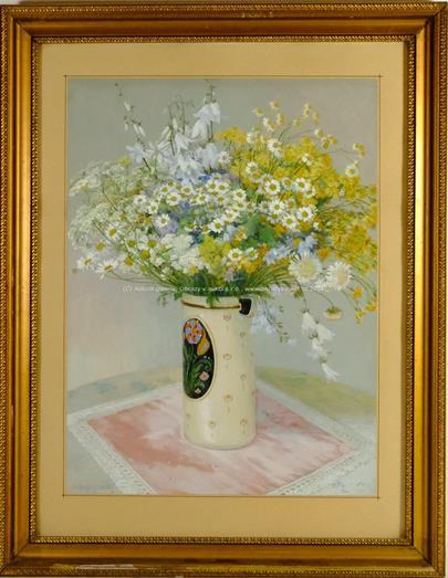 Paul Grabwinkler - Květiny v malovaném džbánku
