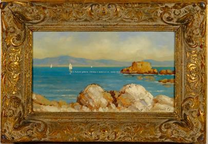 Josef M. Černovický - Loďky u pobřeží