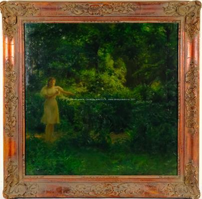 Josef Konečný - Dívka v zahradě