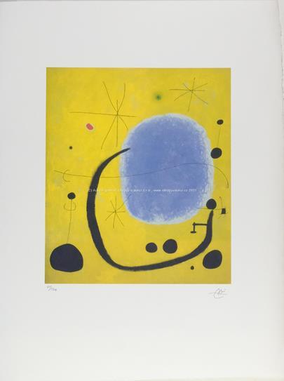 Joan Miró - Žlutá abstrakce