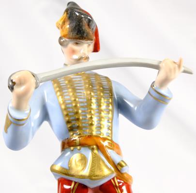 porcelánka Herend - Husarský důstojník