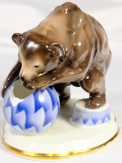 porcelánka Slavkov (Schlaggenwald) - Cirkusový medvěd