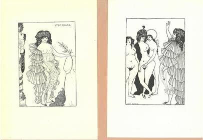 Aubrey Beardsley - Konvolut 2 grafických listů