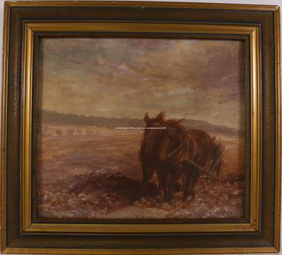 Karel Šupka - S koňmi na poli