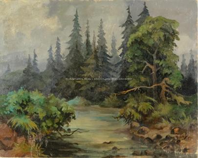 František Bílek - Lesní tůň