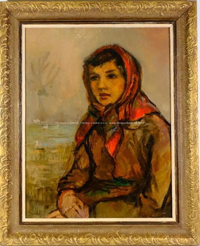 Bohuslav Suchý - Dívka v šátku