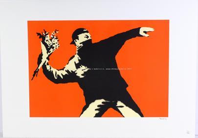 Banksy - The Flower Thrower