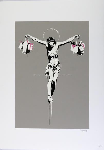 Banksy - Christ with Shopping Bags
