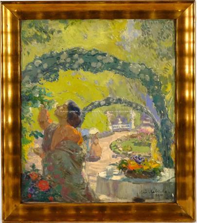 Alois Kalvoda - Léto v zámecké zahradě