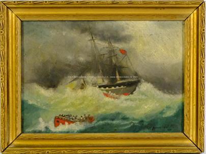 W. Anderle - Lodě v bouři