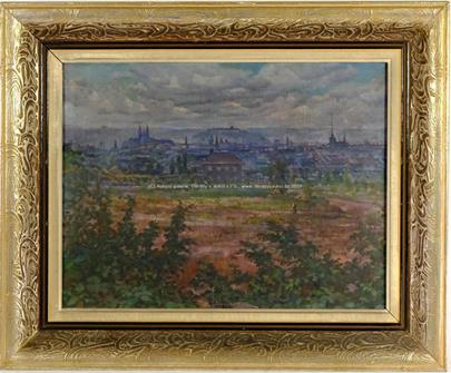 František  Myslivec - Pohled na město