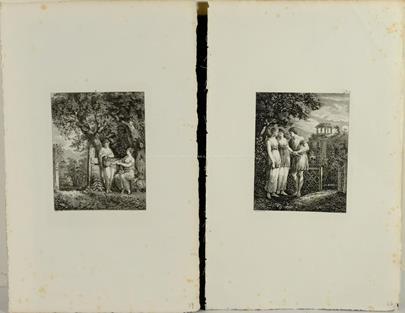 Salomon Gessner - Konvolut 2 grafických listů - Mytologie