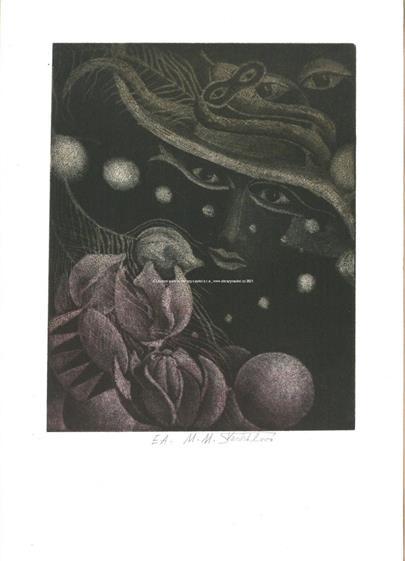 Marie M. Šechtlová - Konvolut 4 grafik k Nezvalovým básním