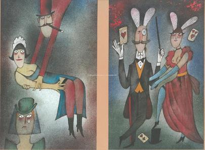 Adolf Born - Konvolut 4 prací s erotickými a humornými motivy