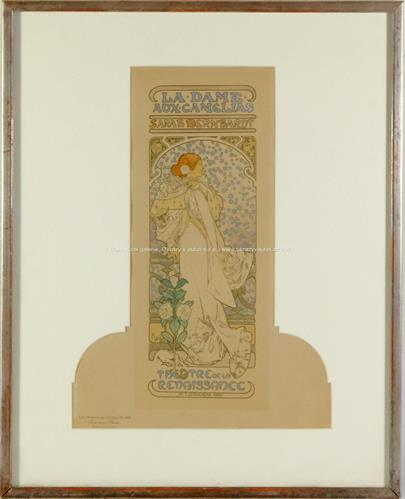 Alfons Mucha - La Dame Aux Camelias, Les Maitres de l'Affiche
