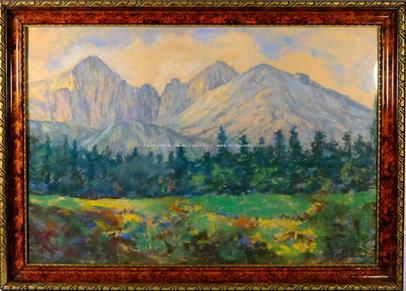 František Sylva Toman - Horské panorama